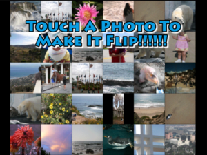 Touch a Photo To Make It Flip